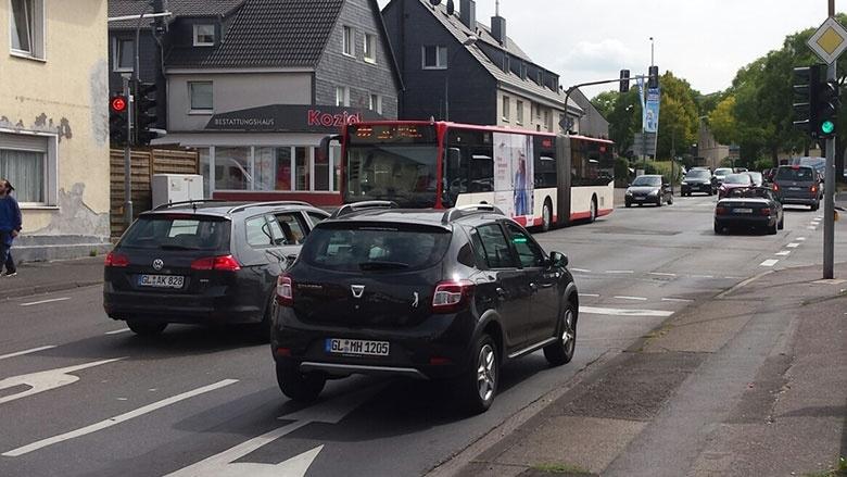 Führt zu Verkehrsstaus: Ampelschaltung an der Flora