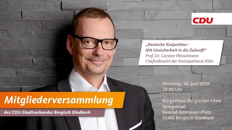 Mitgliederversammlung mit Professor Wesselmann