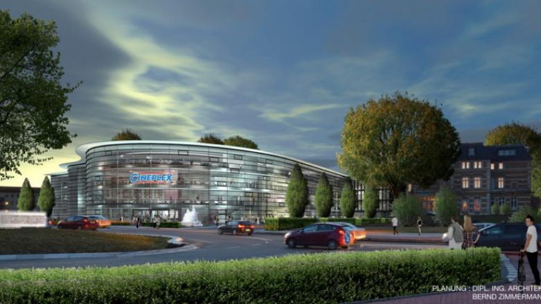 CDU-Fraktionsvorsitzender Dr. Michael Metten stellt mit Bürgermeister Urbach, SPD-Chef Waldschmidt und Architekt Zimmermann neue Perspektiven für die Stadtmitte vor