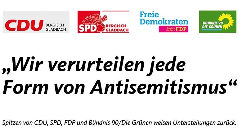 CDU SPD FDP Grüne verurteilen jede Form von Antisemitismus