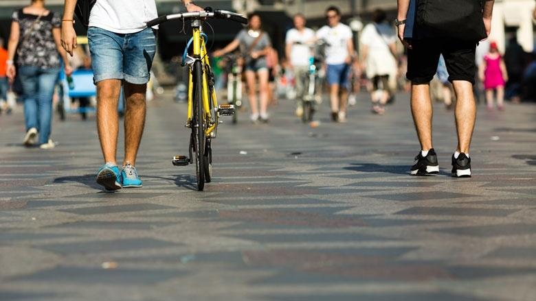Radfahren in der Fußgängerzone ist nur zu bestimmten Zeiten erlaubt
