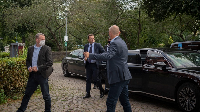 Ankunft des Bundesministers
