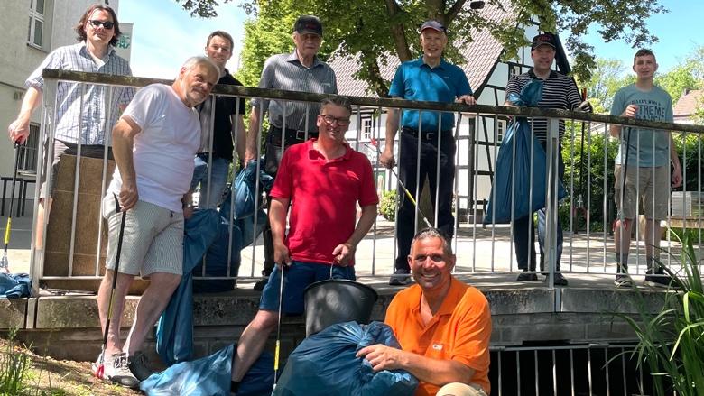 CDU Stadtmitte sammelt mit Dr. Tebroke Müll