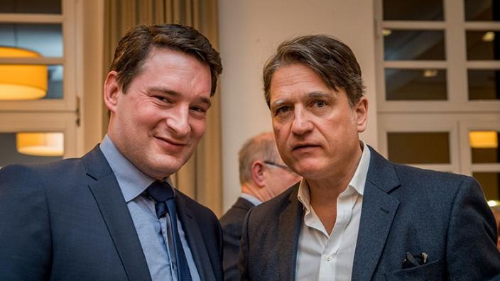 Uwe Pakendorf mit Jakob Augstein