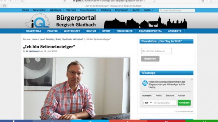"""""""Ich bin Seiteneinsteiger"""" – Dr. Oliver Schillings im Bürgerportal-Interview"""
