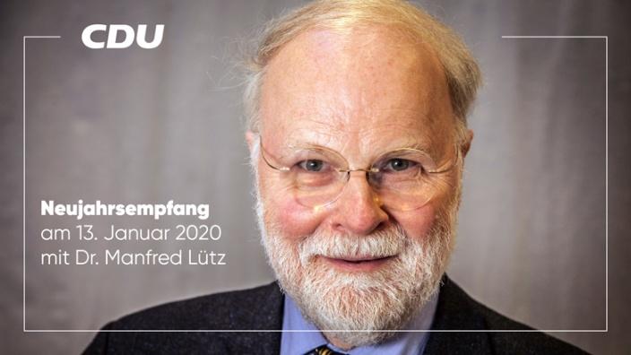 Einladung zum Neujahrsempfang 2020 mit Dr. Manfred Lütz