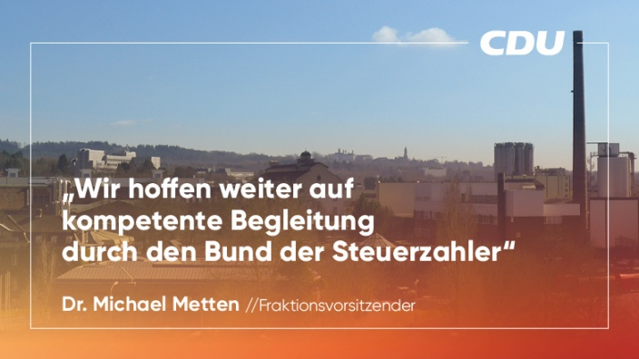 CDU-Fraktion hofft weiter auf kompetente Begleitung durch den Bund der Steuerzahler
