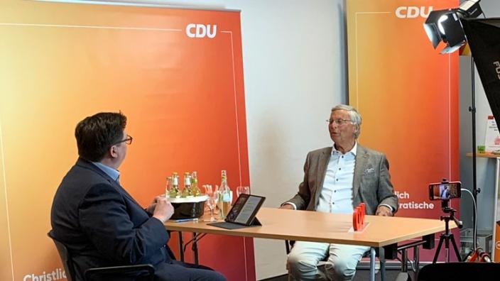 Christian Buchen mit Wolfgang Bosbach