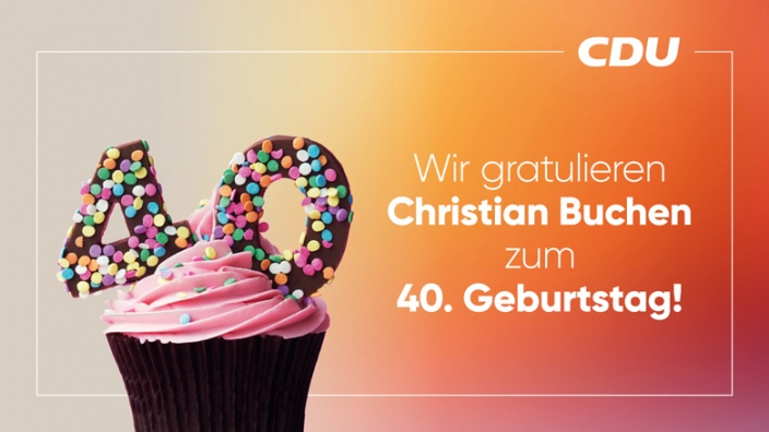 Herzlichen Glückwunsch, Christian Buchen!