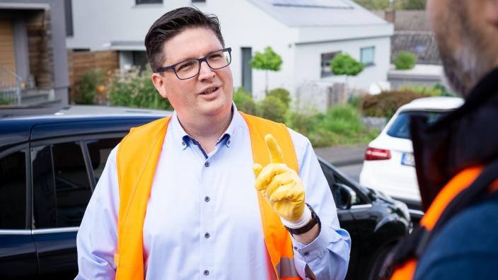 Christian Buchen im Wahlkampf. Foto: Thomas Merkenich/Bürgerportal