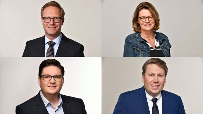 Dr. Michael Metten, Birgit Bischoff, Christian Buchen und Harald Henkel
