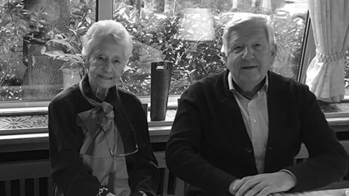 Ursula Schmidt-Goertz mit Manfred Klein beim Mittwochstreff im Jahr 2019