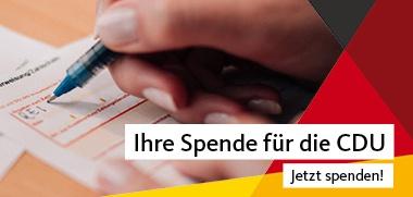 Ihre Spende für die CDU