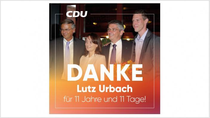 Danke, Lutz Urbach!